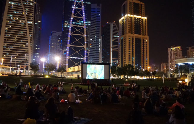 JLT outdoor cinema
