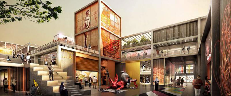 Renderings of Dubai Design District