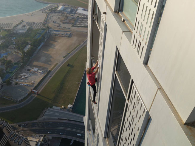 'Spiderman' Alain Robert will stage a record attempt on Dubai's Cayan Tower (image credit: facebook.com/frenchspiderman)