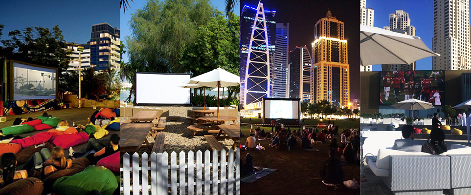 Outdoor cinemas in Dubai