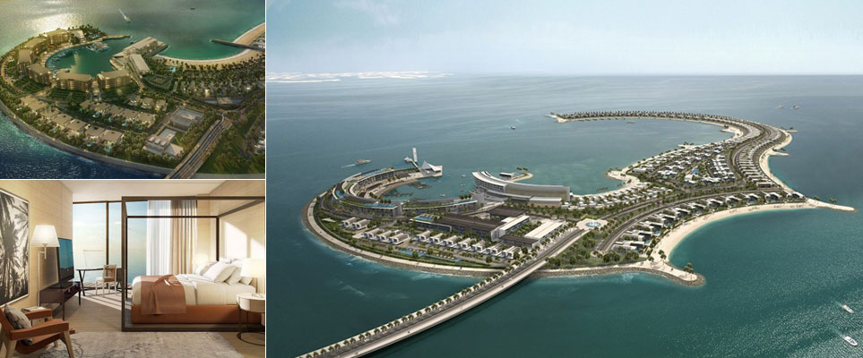 Bulgari Hotel in Dubai, on Jumeirah Bay Island