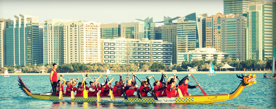 Dragon Boat racing in Abu Dhabi
