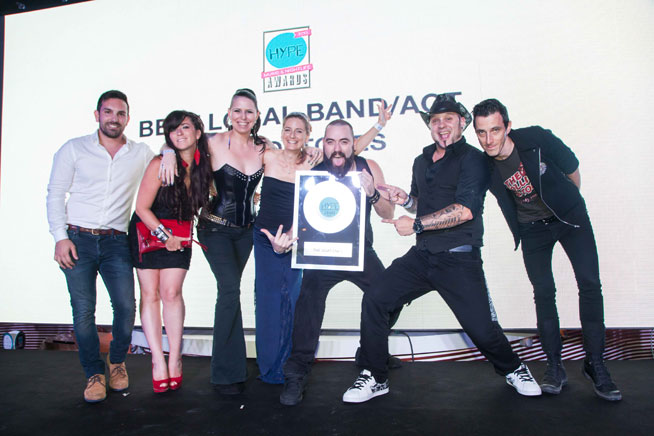 Hype Music & Nightlife Awards at EDEN Beach Club - The Boxtones, best local act