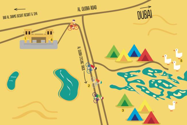Map of Al Qudra