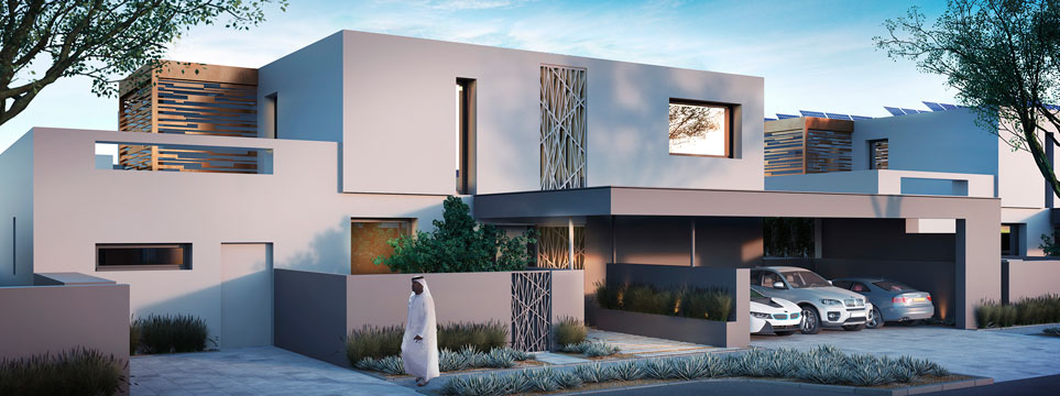 Masdar City eco-villas in Abu Dhabi