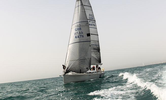 Sir Bani Yas island - offshore sailing