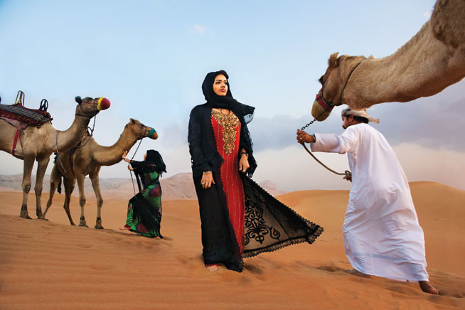 Steve McCurry 7 Princesses exhibit at Dubai art gallery, The Empty Quarter