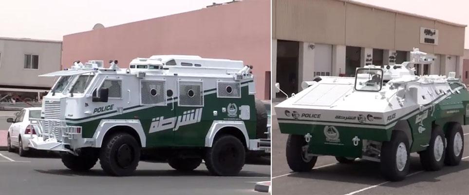 Tank added to Dubai Police cars fleet