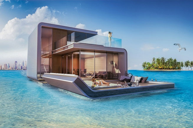 New pictures of Dubai floating villas, 'Floating Seahorses'