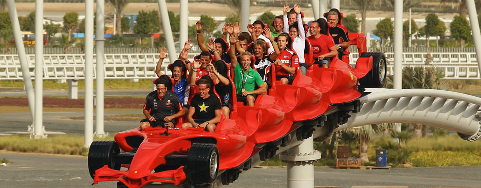 Ferrari World roller coaster