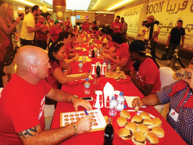Grand Central burger challenge - burger eating challenge