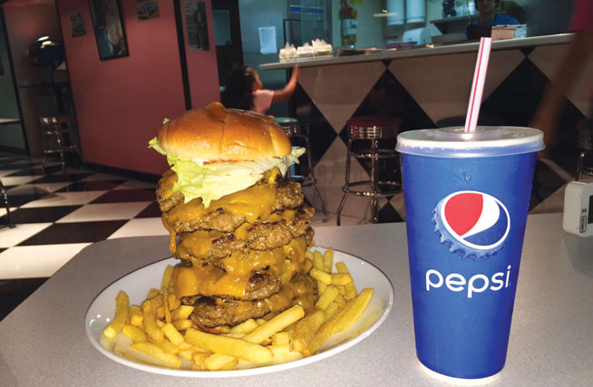 Hwy55 challenge - burger eating challenge