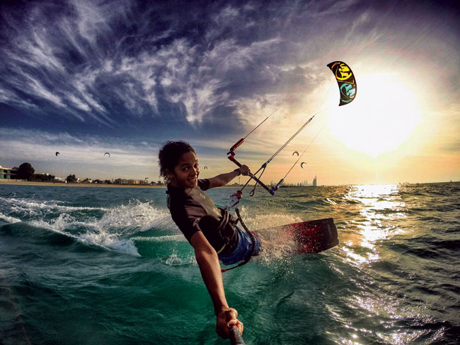 Kite surfing - extreme watersports in Abu Dhabi