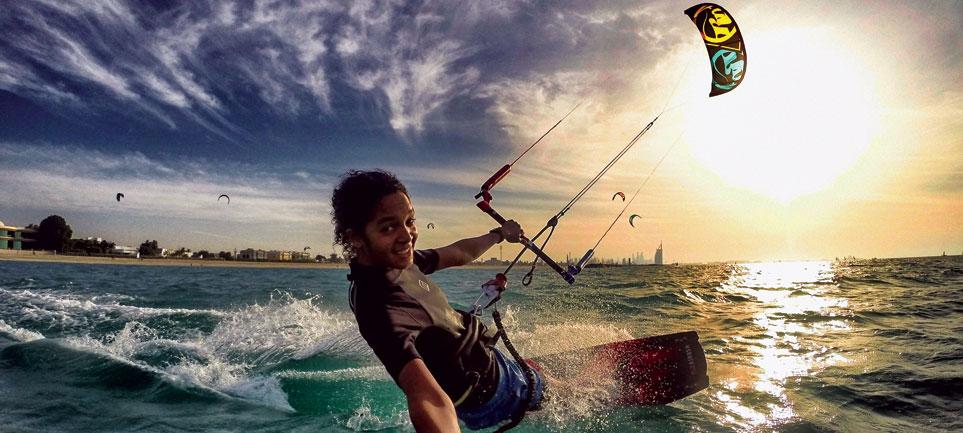 Kitesurfing in Dubai