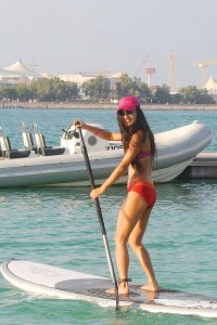 Paddleboard yoga instructor in Abu Dhabi