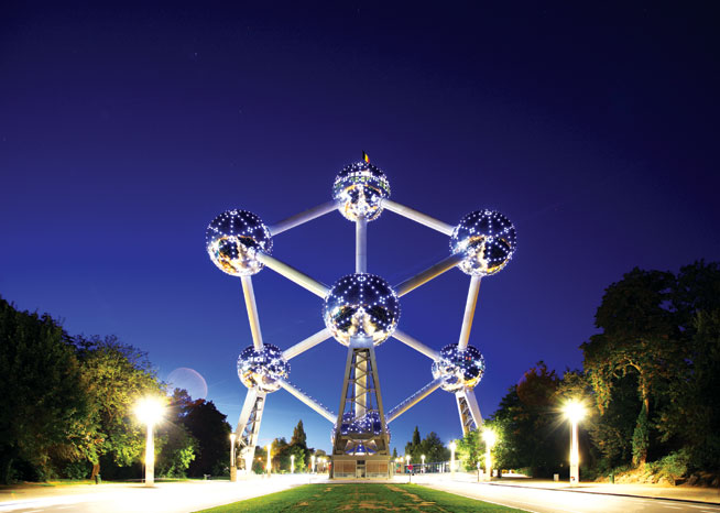 Public art - The Atomium; Brussels, Belgium