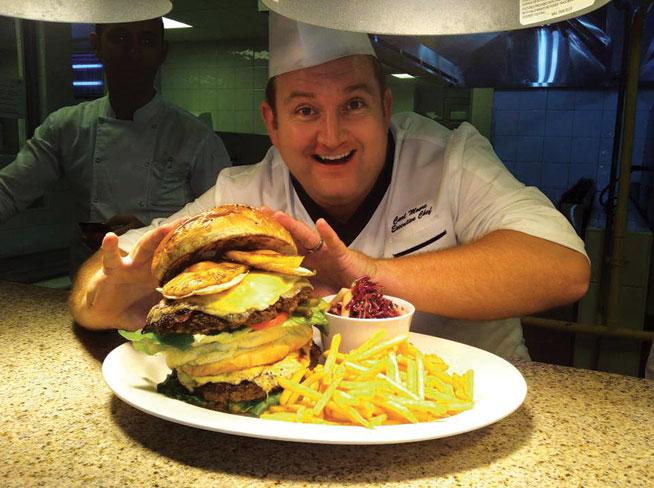 The Holiday Inn challenge - burger eating challenge