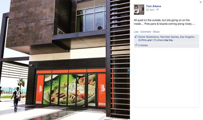 Tom Aikens spotted in Dubai