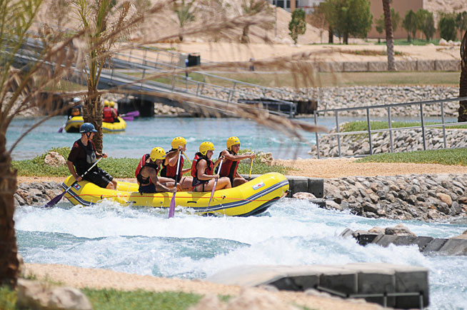 Wadi Adventure white water rafting
