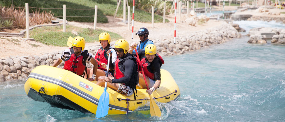 White water rafting at Wadi Adventure