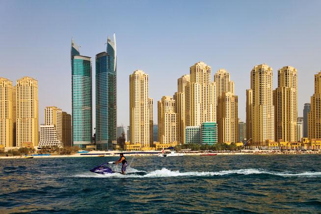 Hiring a jet ski in Dubai