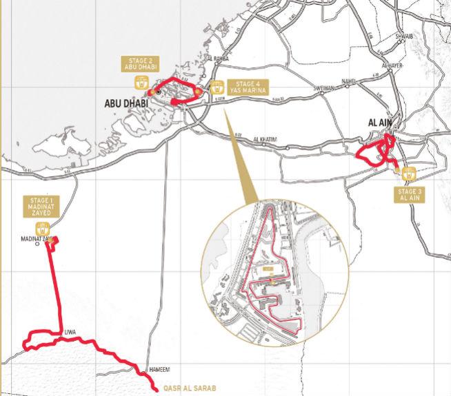 Abu Dhabi Tour route