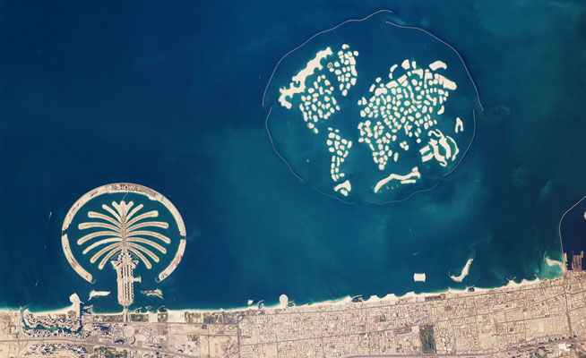UAE And Dubai from space