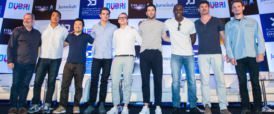 star trek press conference in Dubai full cast and crew