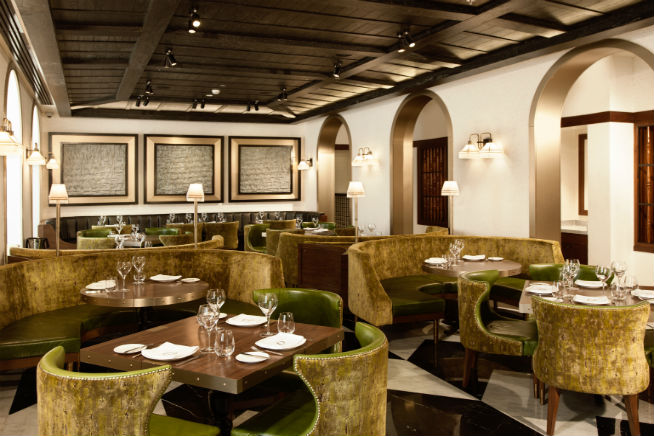 Todd English's Olives-Green Dining Room