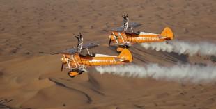 Breitling Wingwalkers flying in the skies over Al Ain in 2013