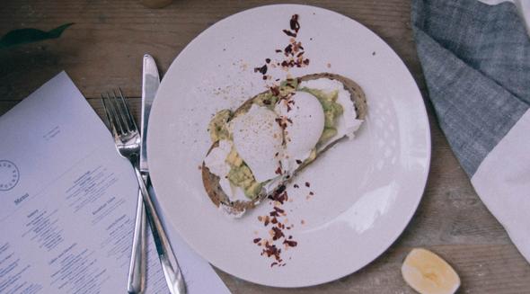 avocado on toast in Dubai