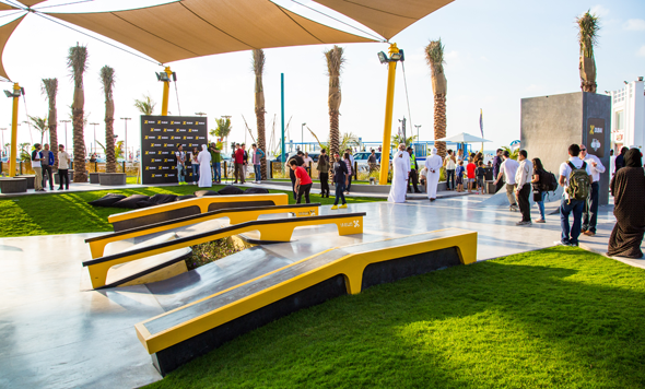 The XDubai skatepark on Kite Beach