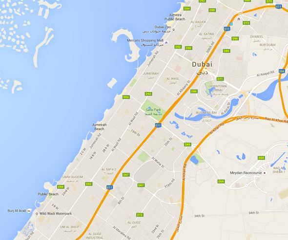 al-wasl-jumeirah beach road maps