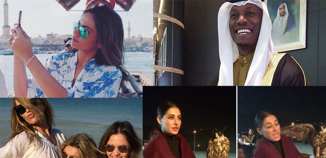 celebrities spotted in dubai this week