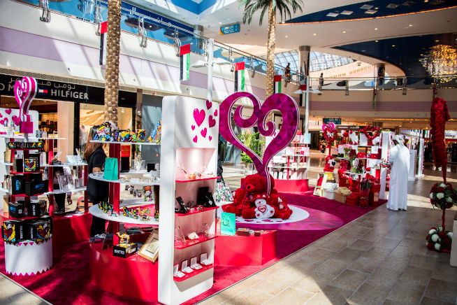 Marina Mall's Valentines Day Village
