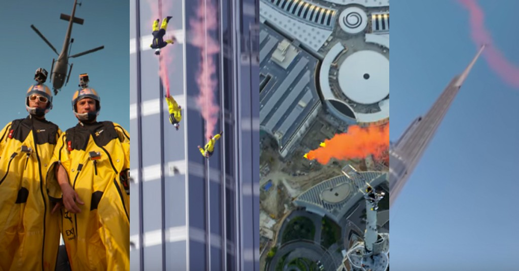 360 degree video of Burj Khalifa jump