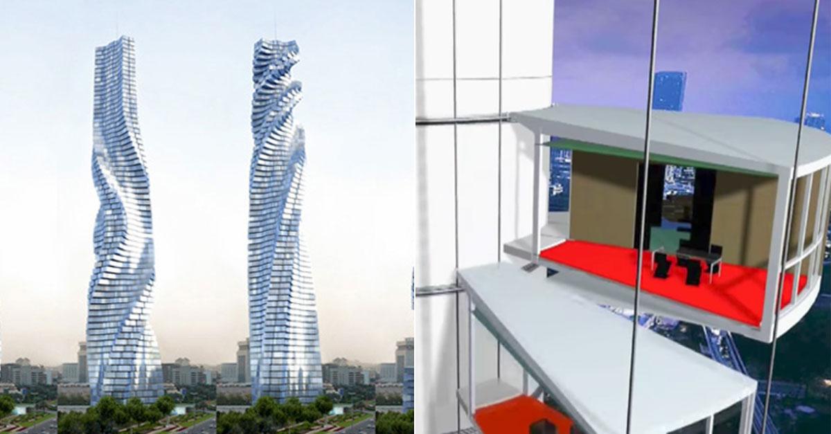 A shape-shifting, rotating skyscraper is set for Dubai by 2020