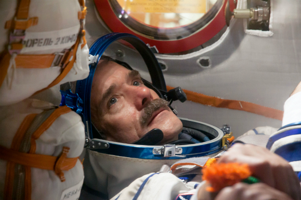 Chris Hadfield in ship