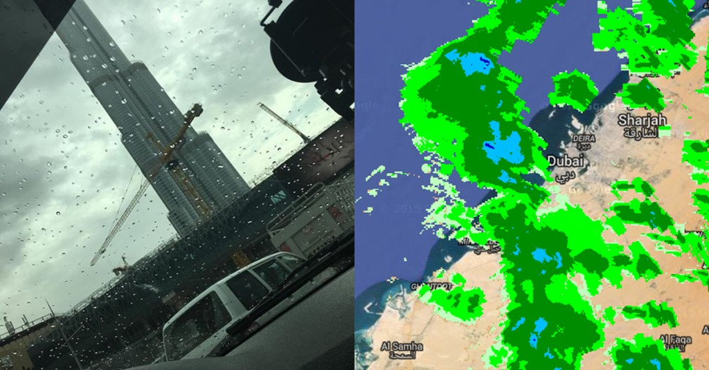 raining in Dubai