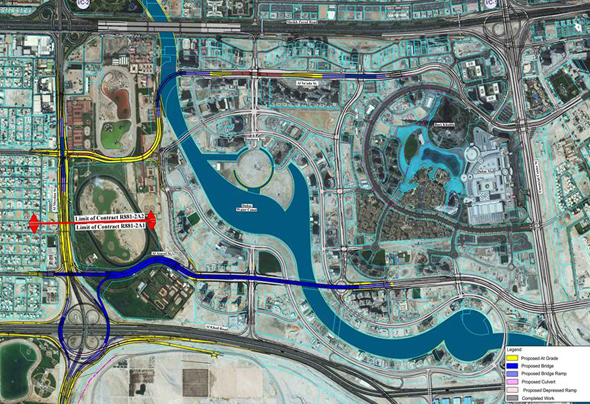 Dubai Road Map Directions on