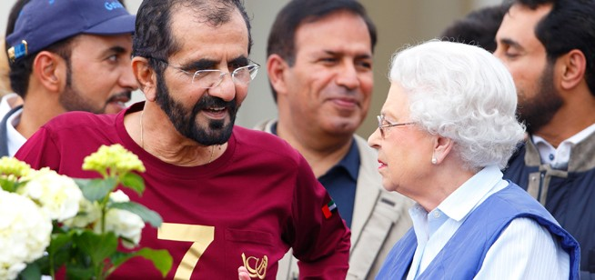 In pictures: Sheikh Mohammed and Queen Elizabeth II