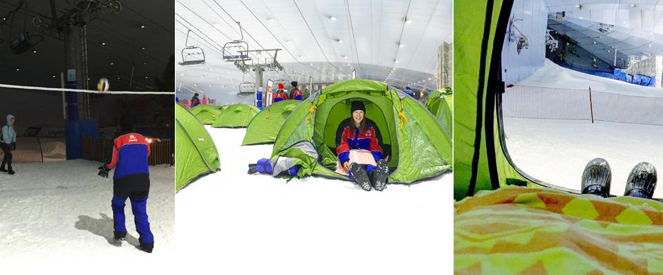 Ski Dubai Campincamping in ski dubai