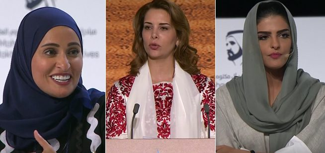 Princess Haya & Minister of Happiness at Arab Media Forum