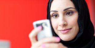 emirati women phone