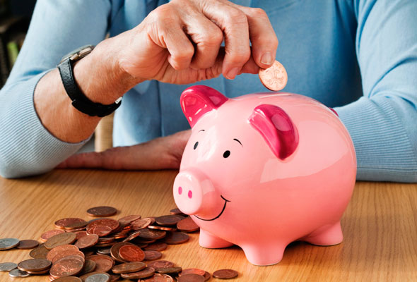 pension piggy bank savings money