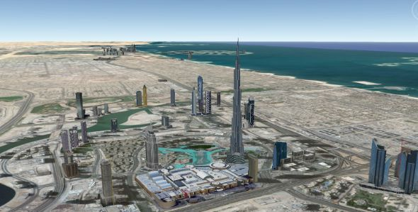 Dubai google earth