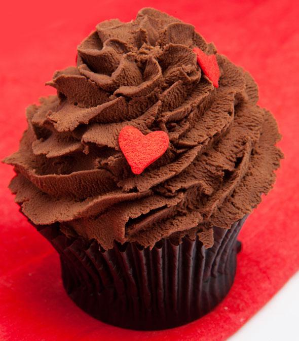 Bloomsbury's choco vegan cupcake