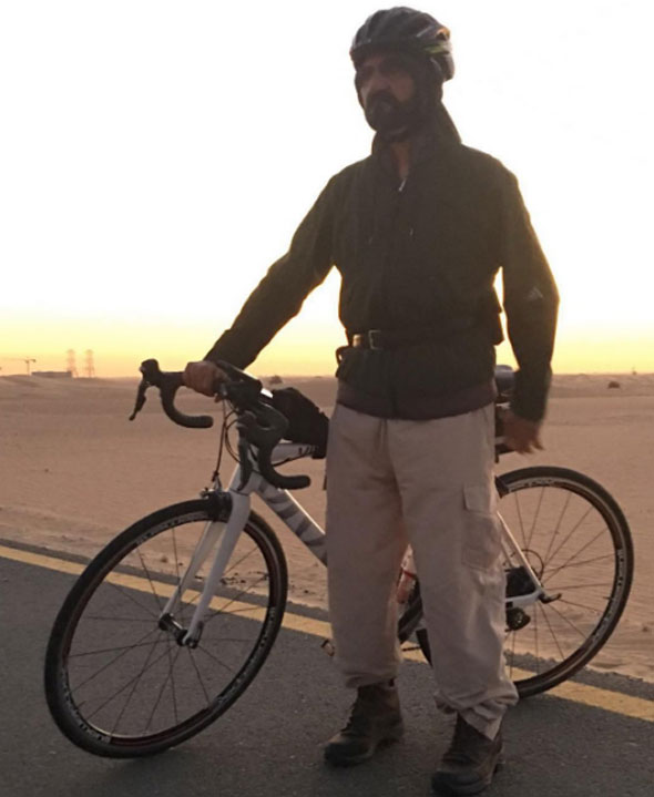 sheikh mohammed cycling