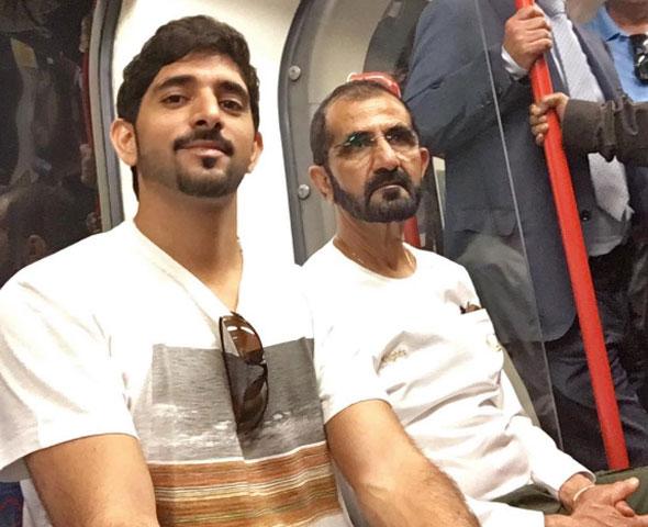 sheikh mohammed london tube