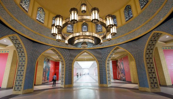 Ibn Battuta Mall Metro link interior